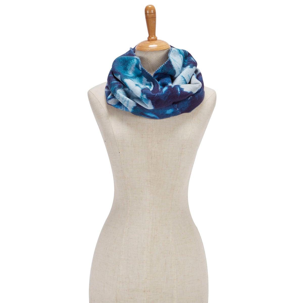 Women's FLORAL LOOP azure scarf