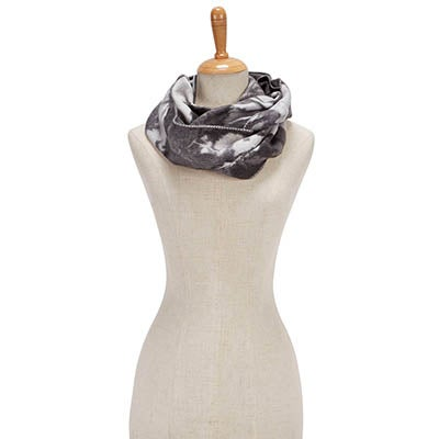 Fraas Women's FLORAL LOOP grey scarves