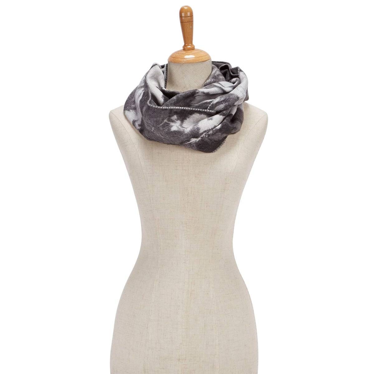 Lds Floral Loop grey scarf