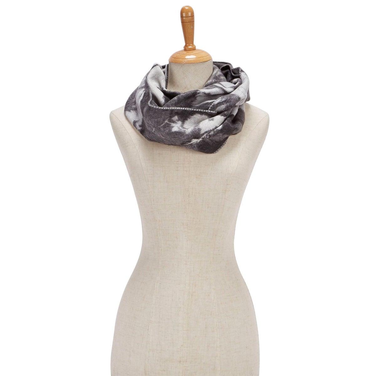 Foulard Floral Loop, gris, femmes