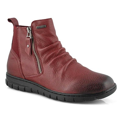 Lds Steffi 71 burgundy wtpf ankle boot