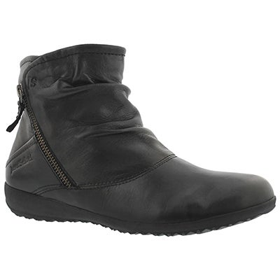 Lds Naly 01 schwarz side zip ankle boot
