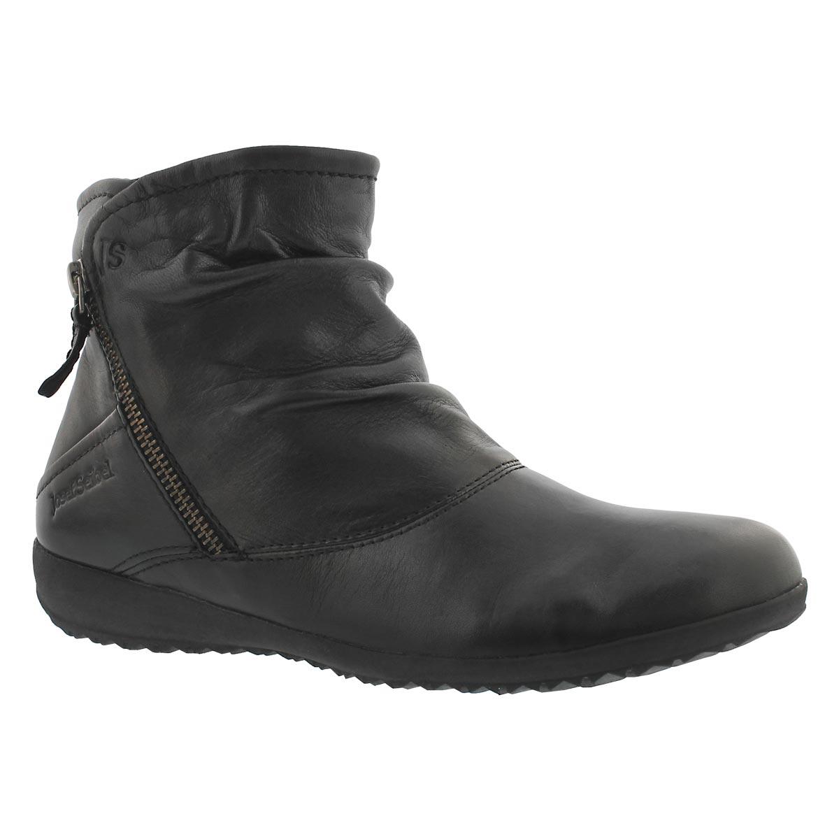 Women's NALY 01 schwarz side zip ankle boots