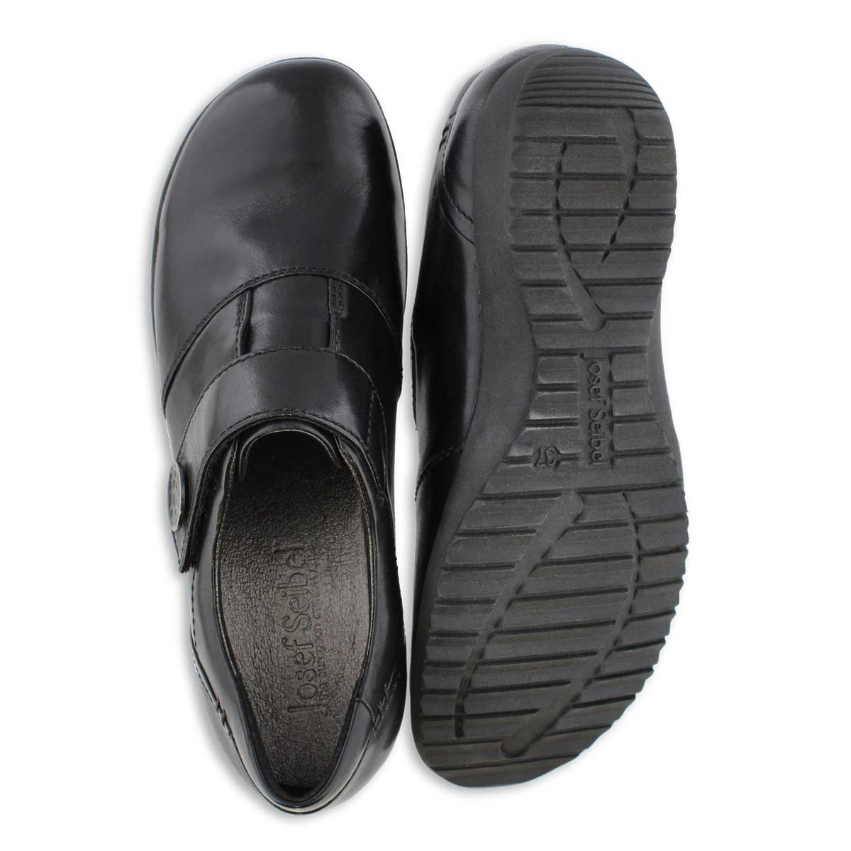 Lds Naly 21 black casual slip on loafer