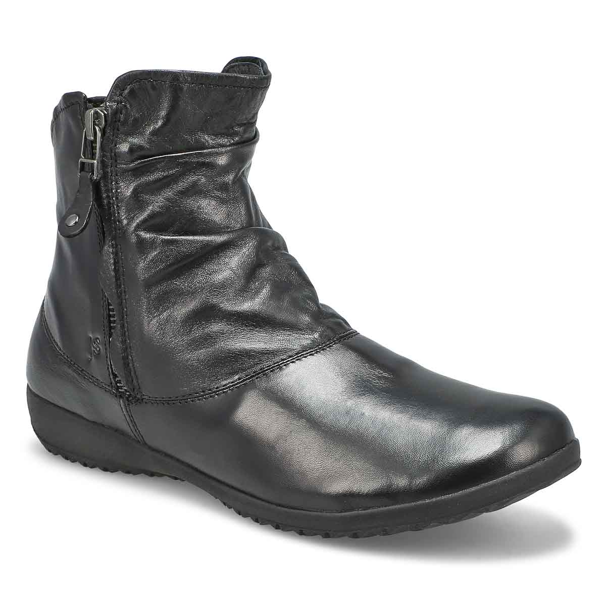Lds Naly 24 schwarz side zip ankle boot