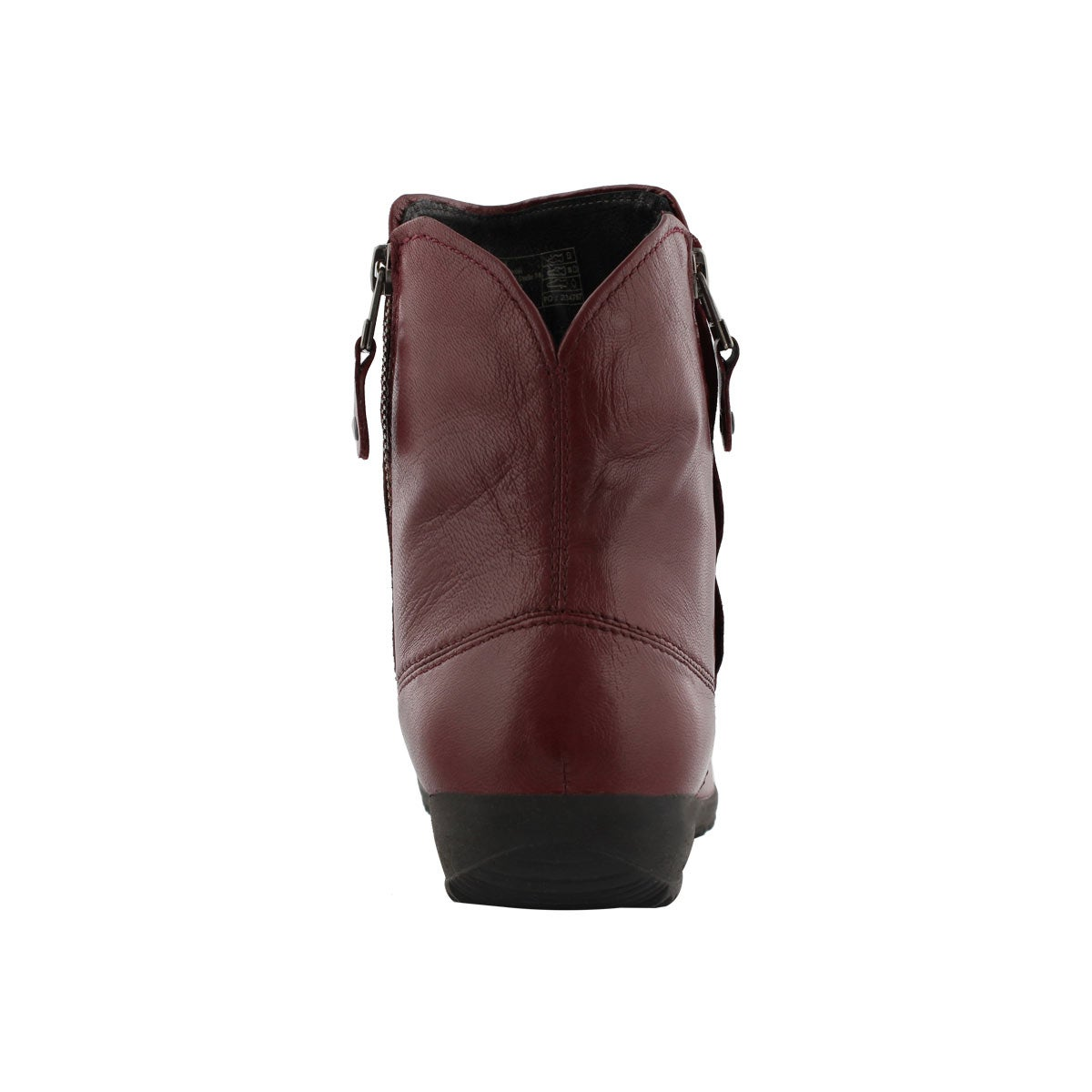 Lds Naly 24 bordo side zip ankle boot