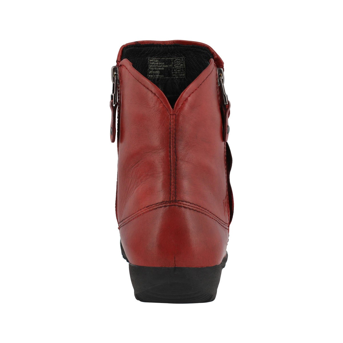 Lds Naly 24 carmin side zip ankle boot