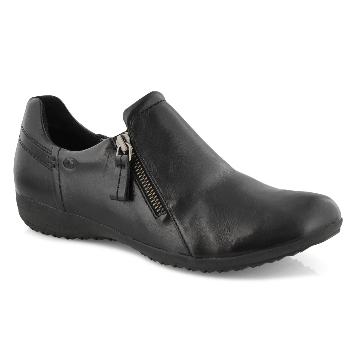 Lds Naly 32 black casual slip on Loafers