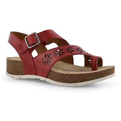 Lds Tilda 05 red toe post sandal