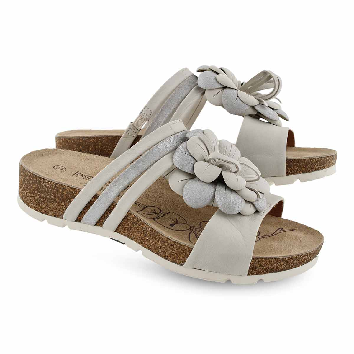 Lds Tilda 10 off white slide sandal