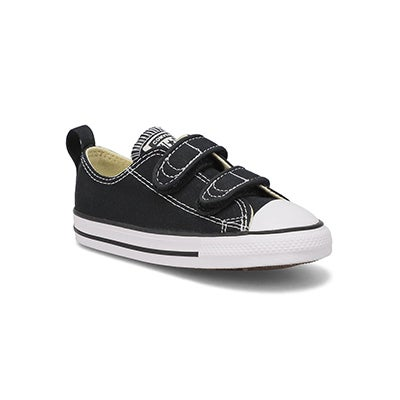 Converse Infants' CORE V2 OX black canvas sneakers