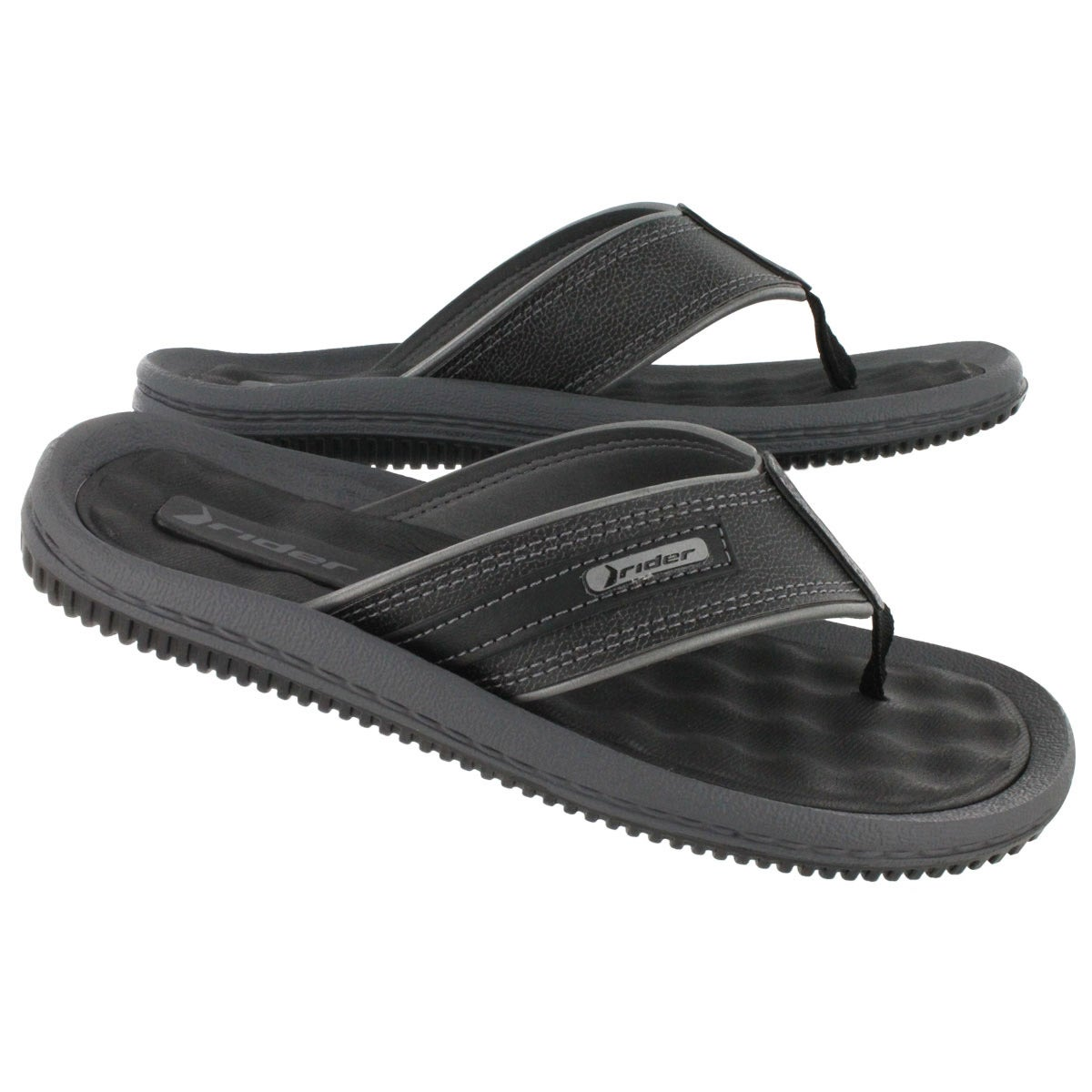 Sandales tongs Drift II, noir/gris, hom