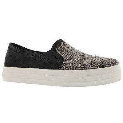 Lds Double Up Shiny Dancer blk slip on