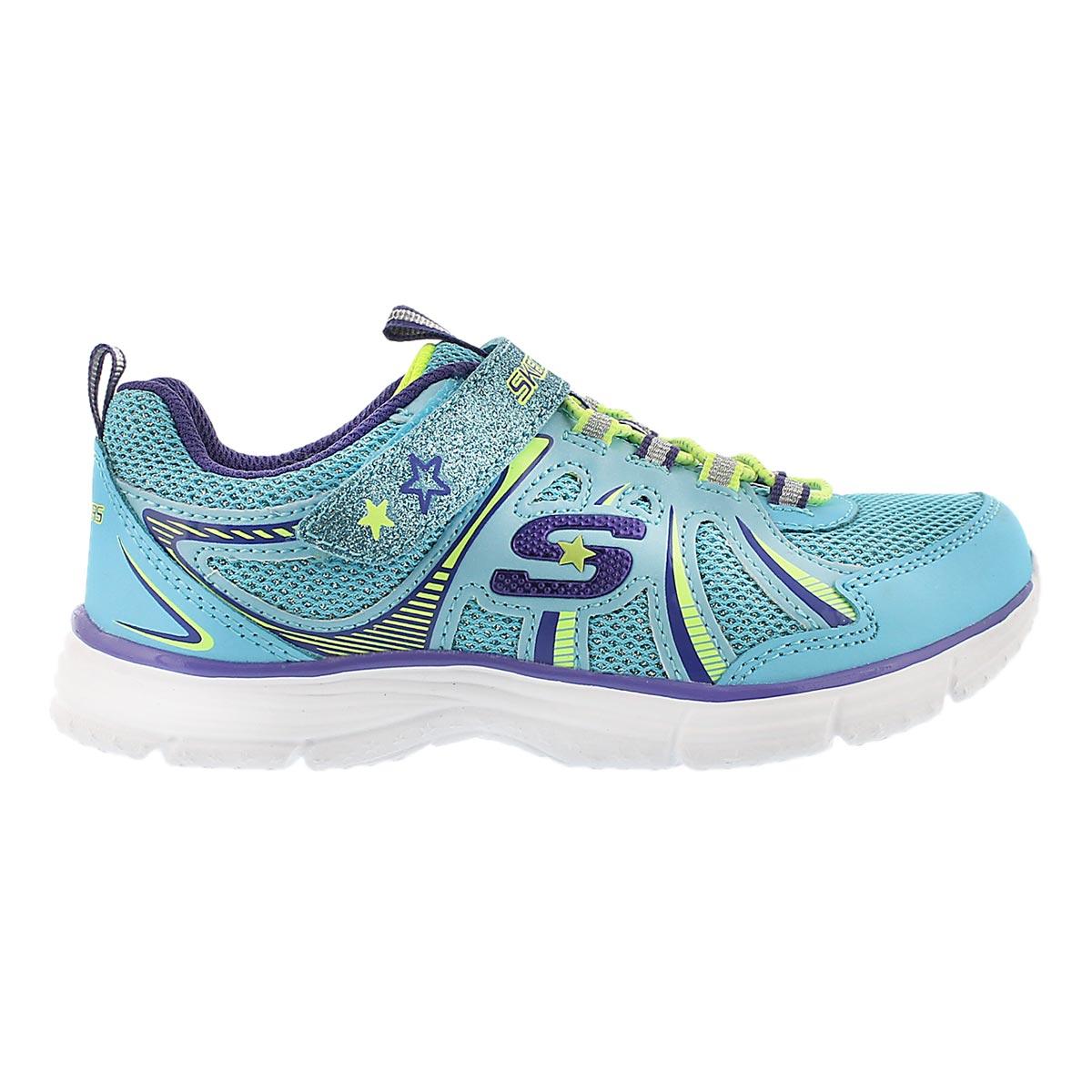 Grls Ecstatix blu/ppl bungee sneaker