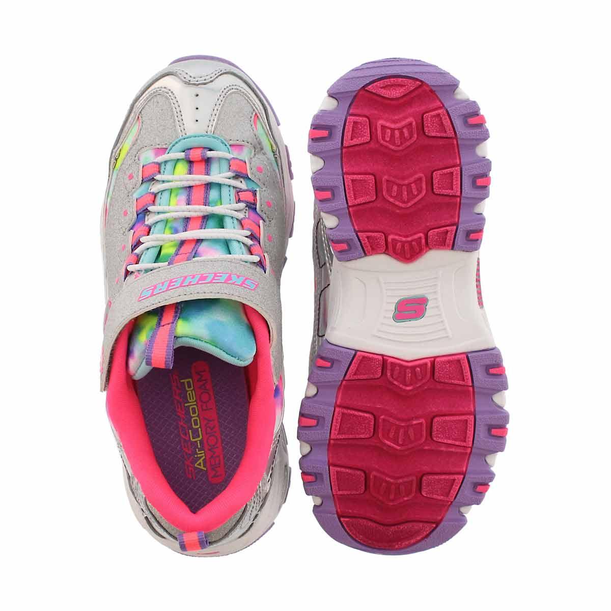 Grls D'Lites silver/multi sneaker