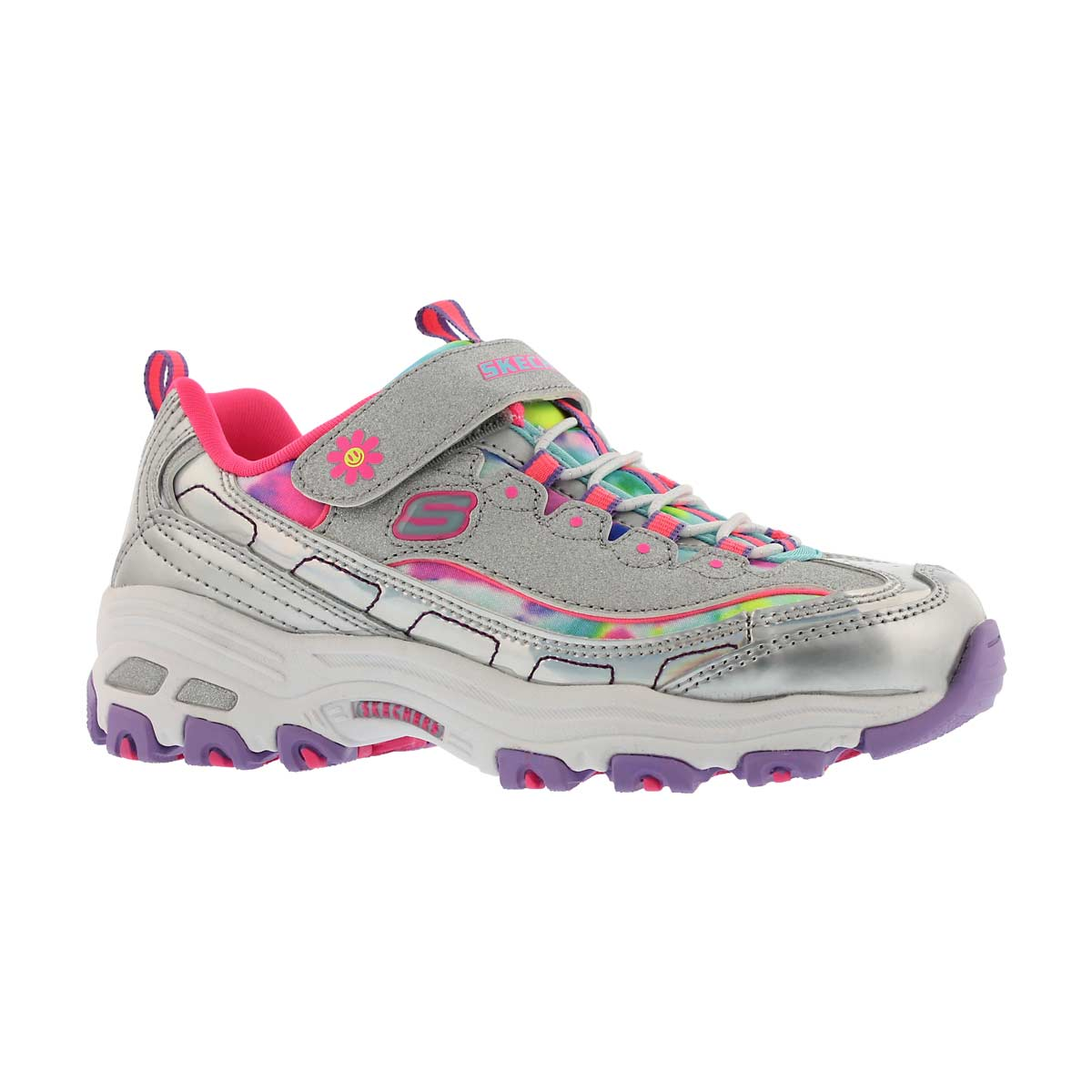 Girls' D'LITES silver/multi sneakers