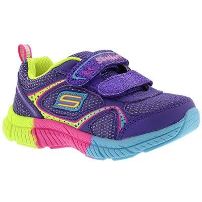 Inf Swivels purple 2 strap sneaker