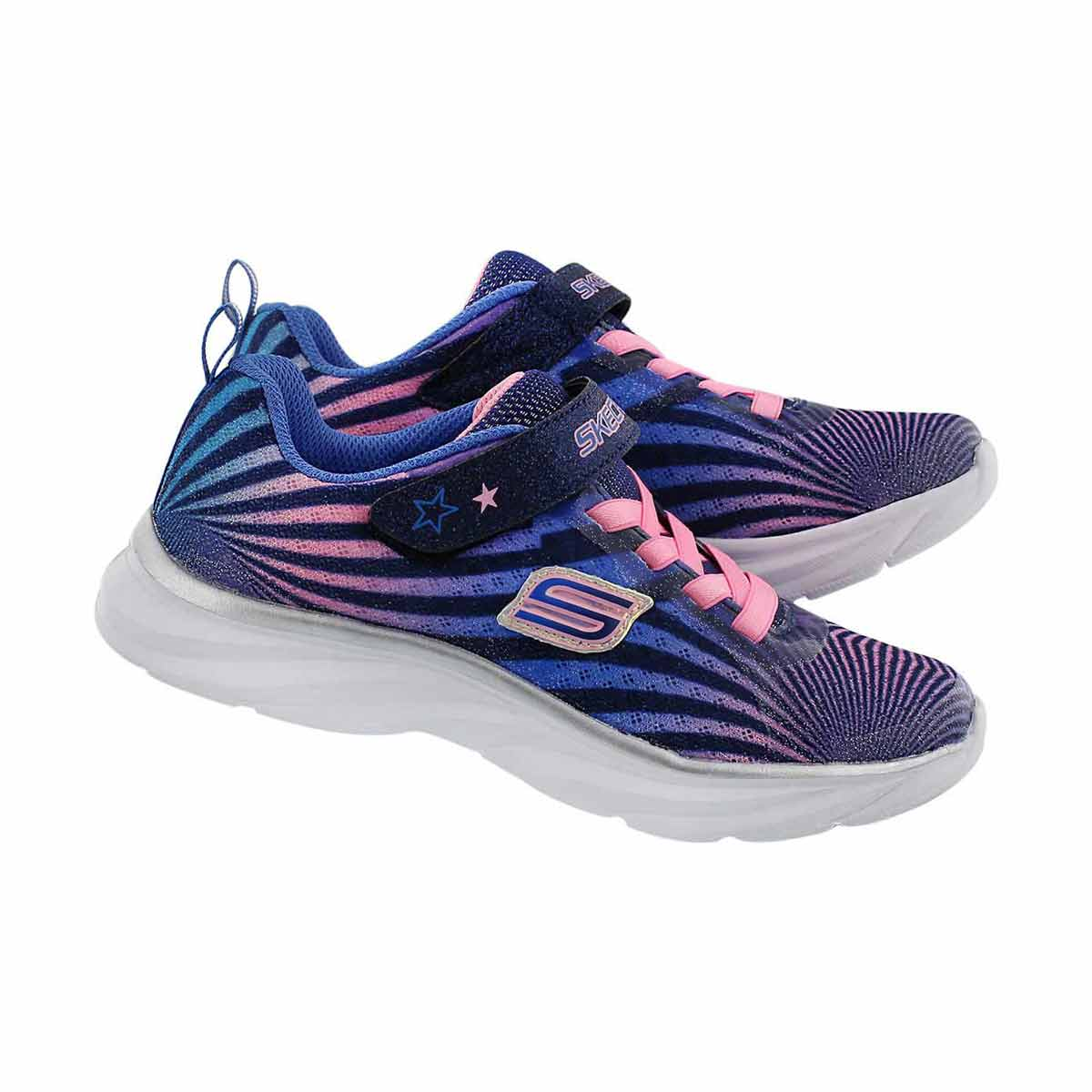 Grls Colorbeam nvy/pnk printed sneaker