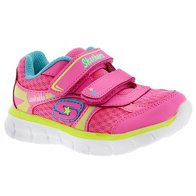 Inf Lil Softy pink 2 strap sneaker