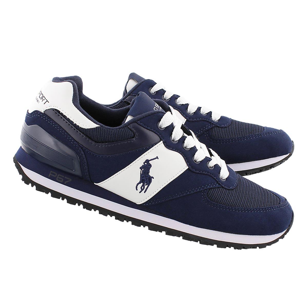 Mns Slaton Pony navy lace up sneaker