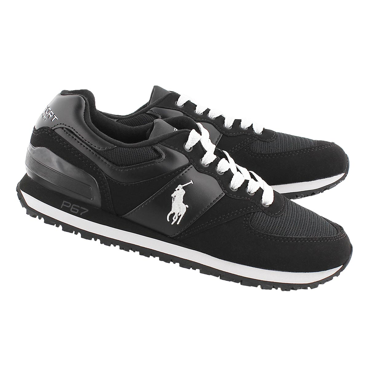 Mns Slaton Pony blk/wht lace up sneaker