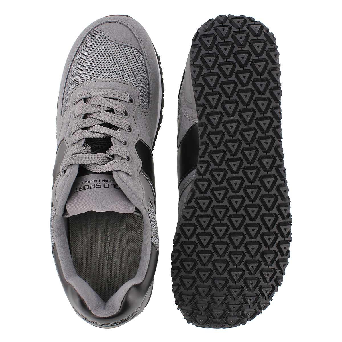 Mns Slaton Pony charcoal lace up sneaker