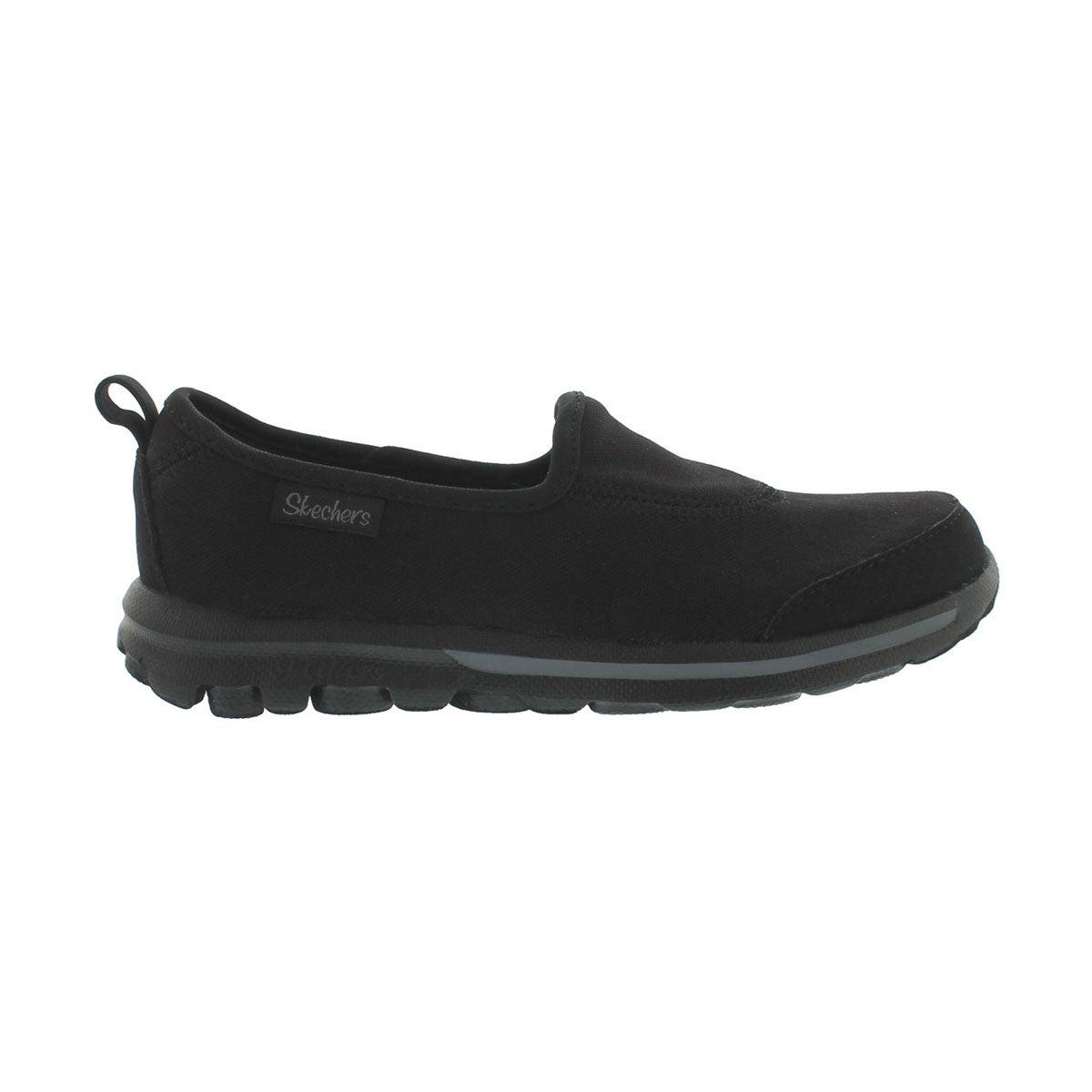 Grls GOwalk blk/blk slip on sneaker