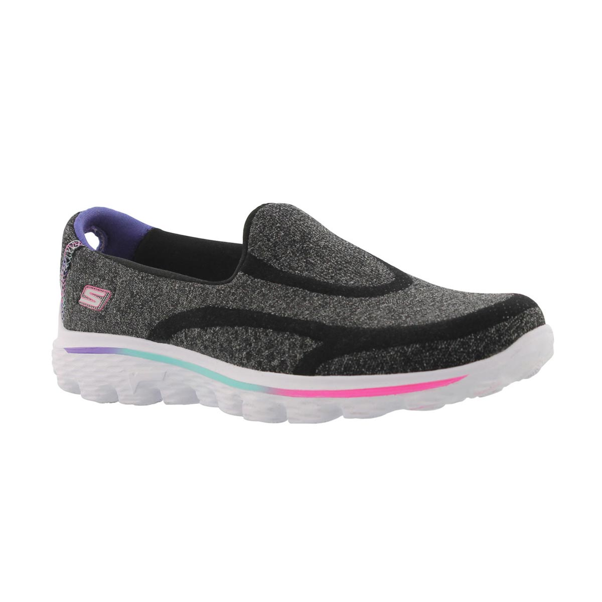 Girls' GOwalk 2 SUPER SOCK black slip ons
