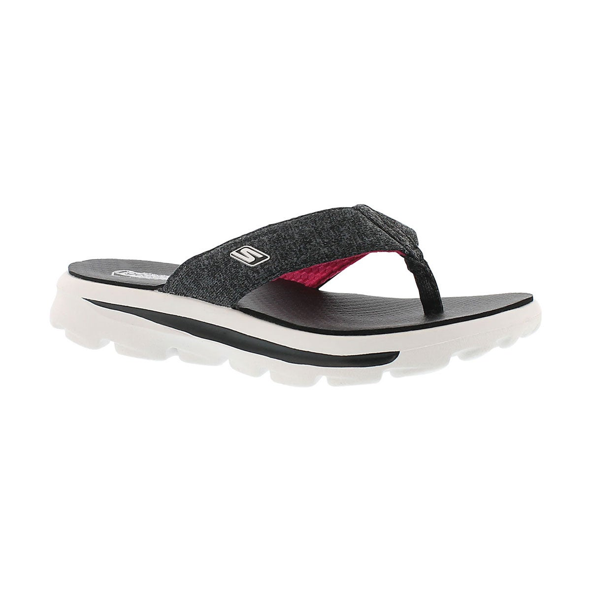 Girls' GOwalk MOVE SOLSTICE black/pink thongs