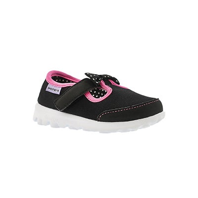 Skechers Infants' GOwalk BITTY BOW blk/pink walking shoes