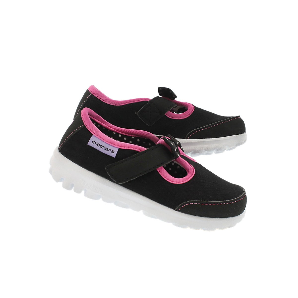 Infs-g GOwalkBittyBow bk/pk walking shoe
