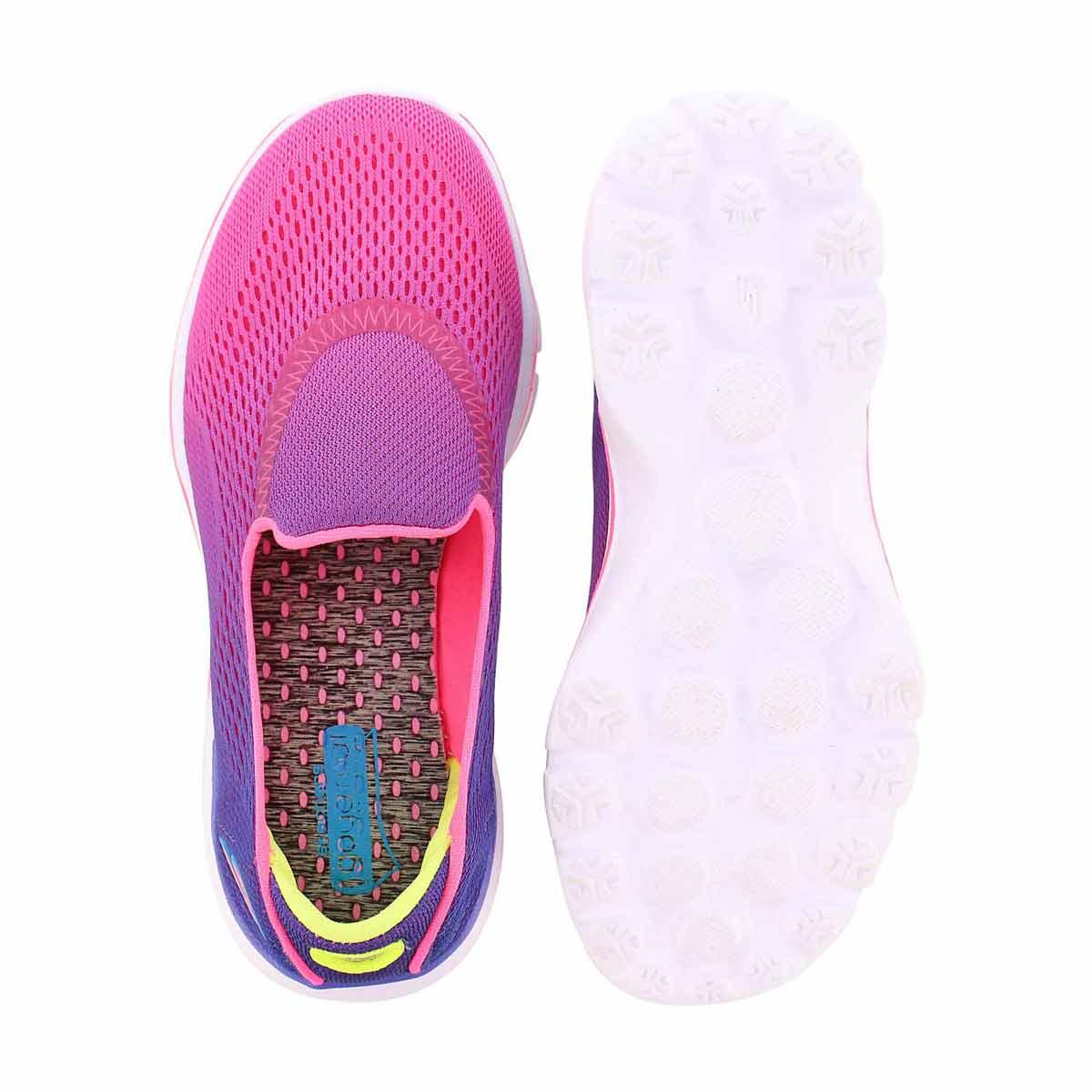 Grls GOwalk 3 ppl/pnk ombre slip on
