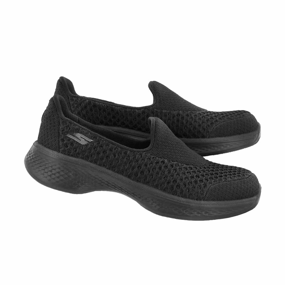 Grls GOWalk4 Kindle black slip on shoe