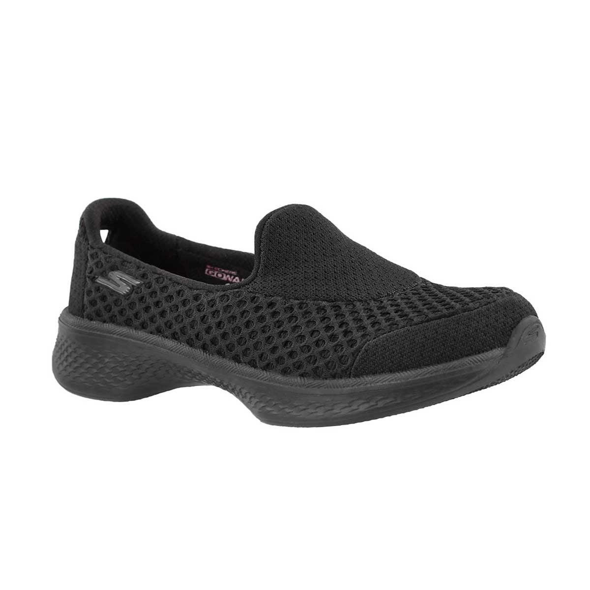 Girls' GOwalk 4 KINDLE black slip on shoes