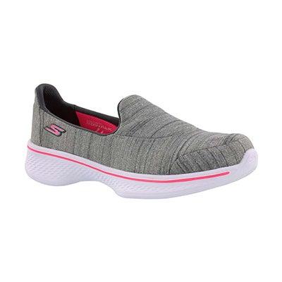 Grls GOwalk 4 Satisfy grey slip on