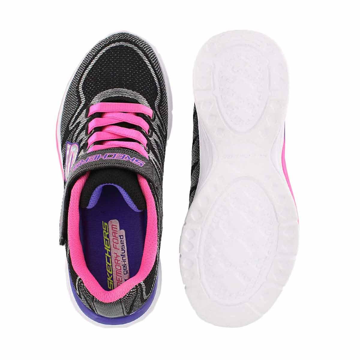 Grls Dream N' Dash blk/pnk sneaker