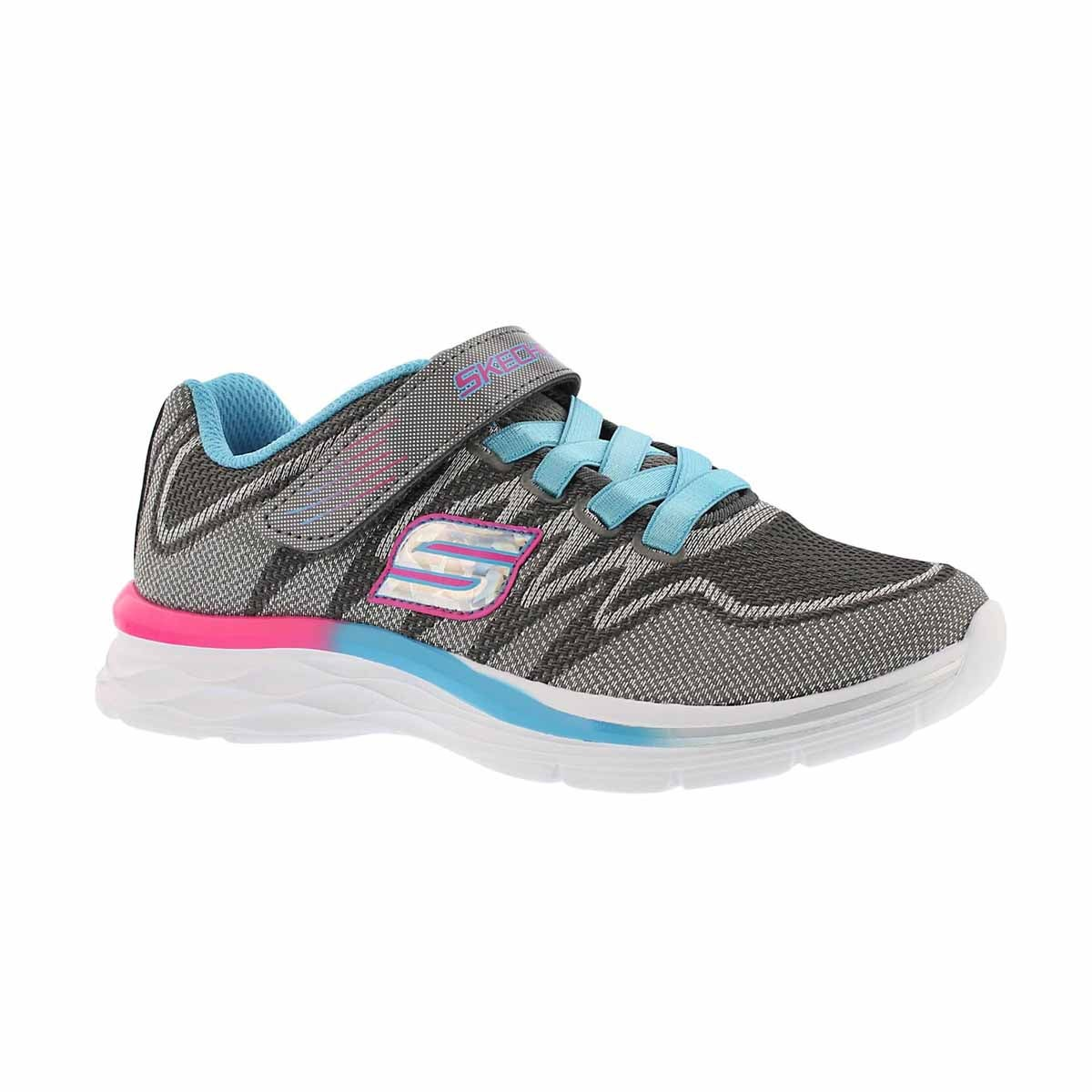 Girls' DREAM N' DASH grey/blue sneakers