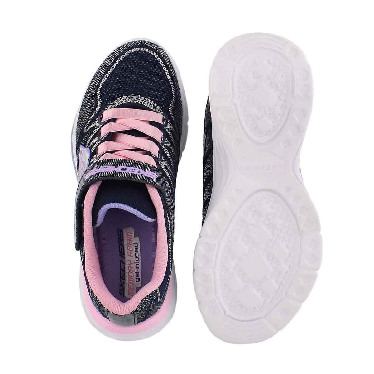 Grls Dream N' Dash navy/pink sneaker