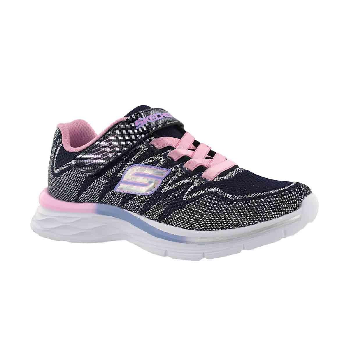 Girls' DREAM N' DASH navy/pink sneakers