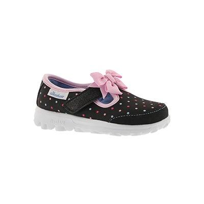 Infs-g GOwalk Dotty Dazzle blk t-strap