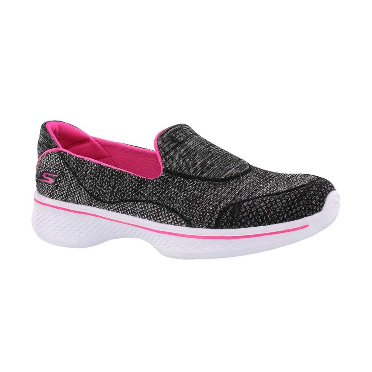 Girls' GOwalk 4 SPEEDY SPORTS black/pink slip ons