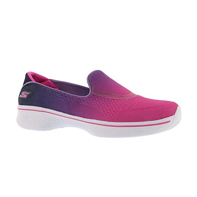 Grls GO Walk 4 pink ombre slip on shoe