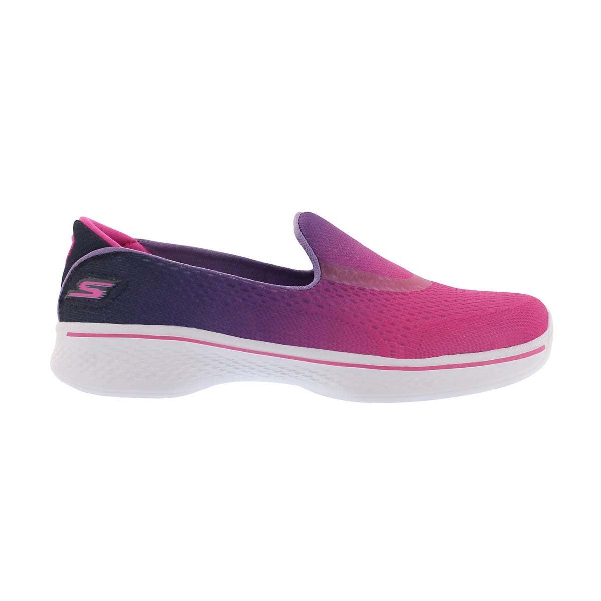 Grls GO Walk 4 pink ombre slip on shoe