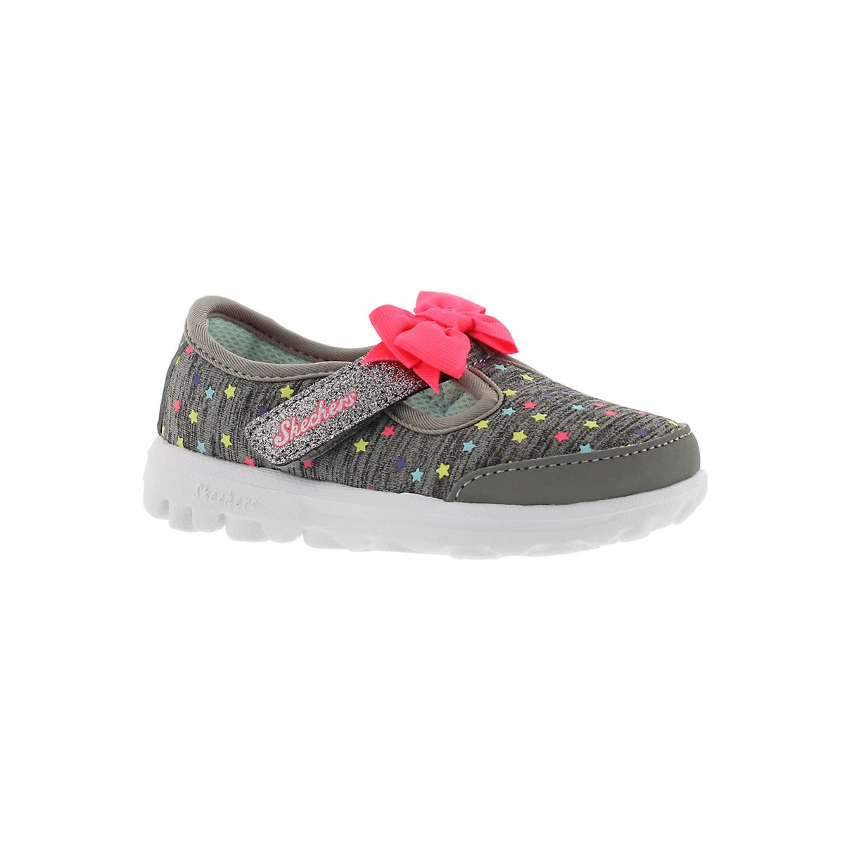 Infants' GOwalk grey multi t-strap slip ons