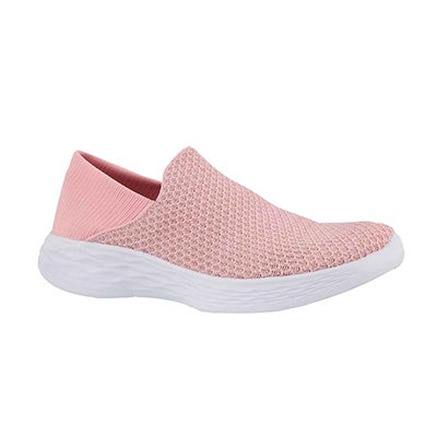 Grls You pink slip on shoe