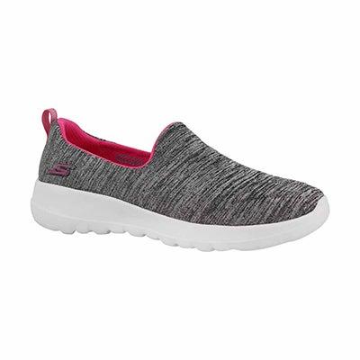 Grls GOwalk Joy gry/pnk slip on shoe