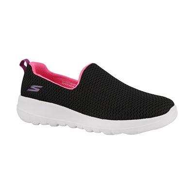Grls GOwalk Joy black slip on shoe