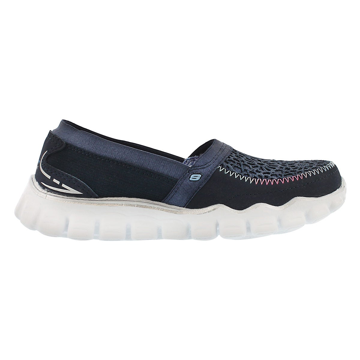 Grls Sugar Shake navy sparkle slip on