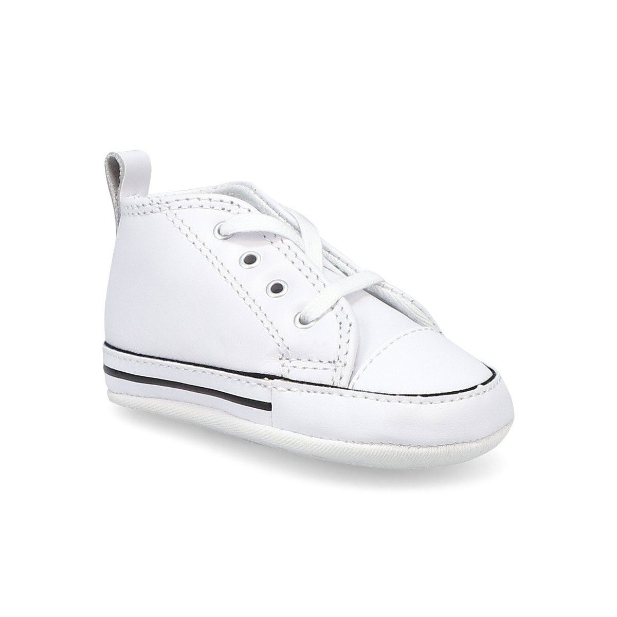 Infants' ALL STAR CRIB white leather sneakers