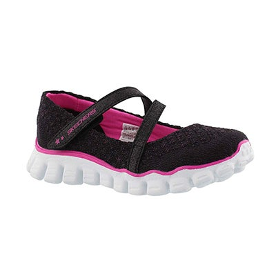 Skechers Girls' SKECH FLEX II black Mary Janes